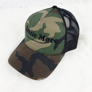 Camo Baseball Cap | Smile More | New Era